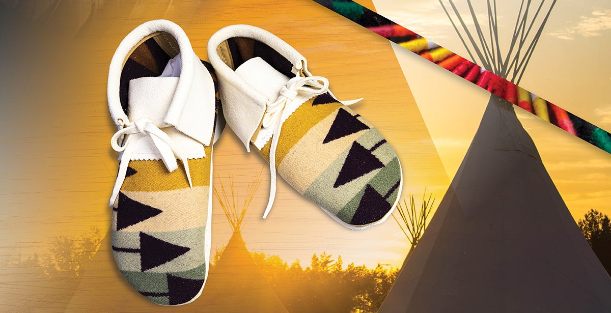 Make Your Own Pendleton Moccasins