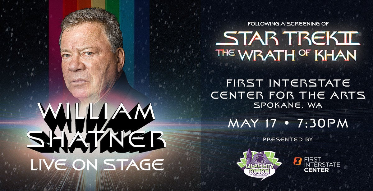 William Shatner Live! Following a screening of Star Trek II: The Wrath of Khan