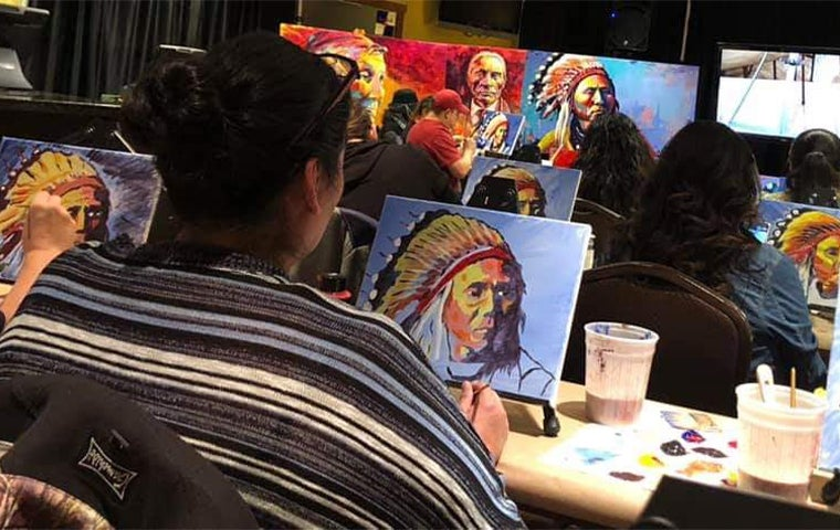 More Info for *Cancelled * Native American Sip n Paint
