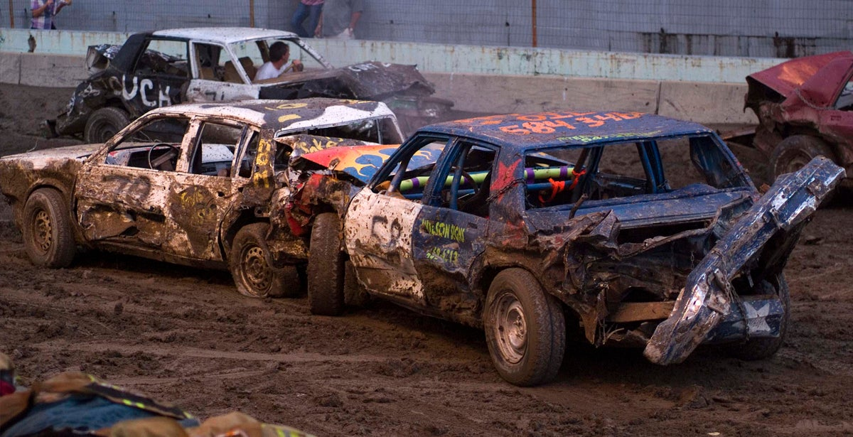 Demolition Derby - Spokane County Interstate Fair 2019