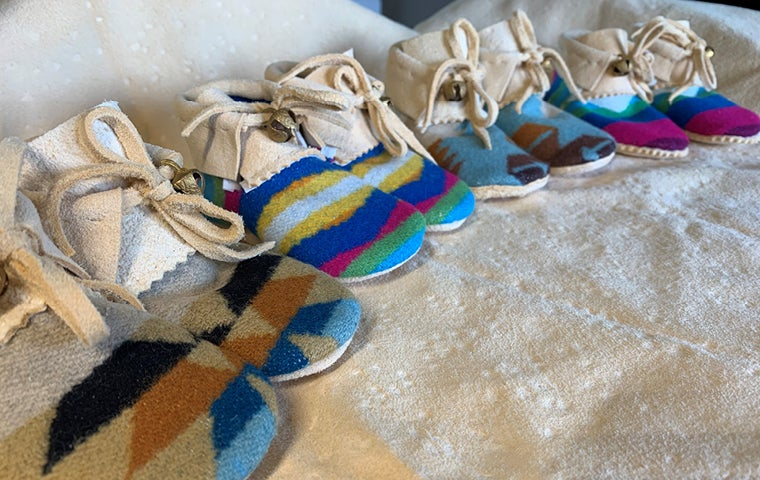 """Make Your Own"" Baby Pendleton Moccasins"