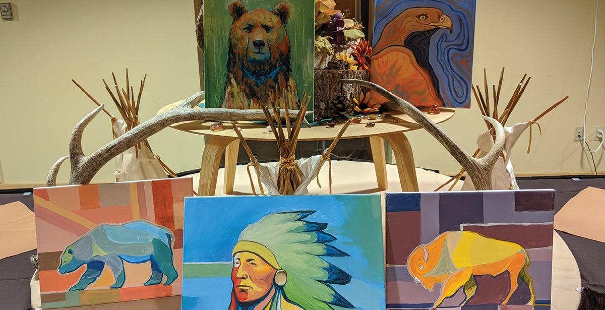Native American Sip n Paint