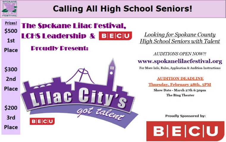 More Info for Lilac City's got Talent!