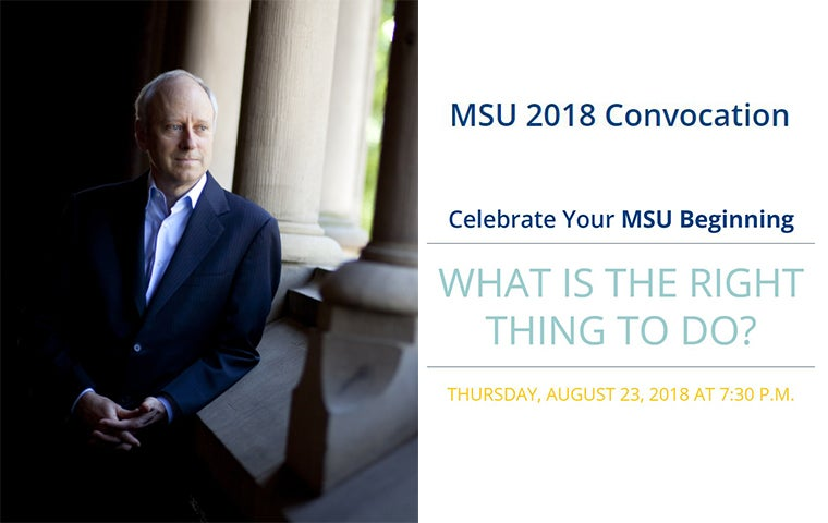 More Info for MSU Convocation with Michael Sandel