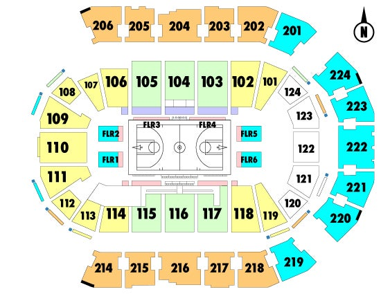 Spokane Arena Seating Chart View