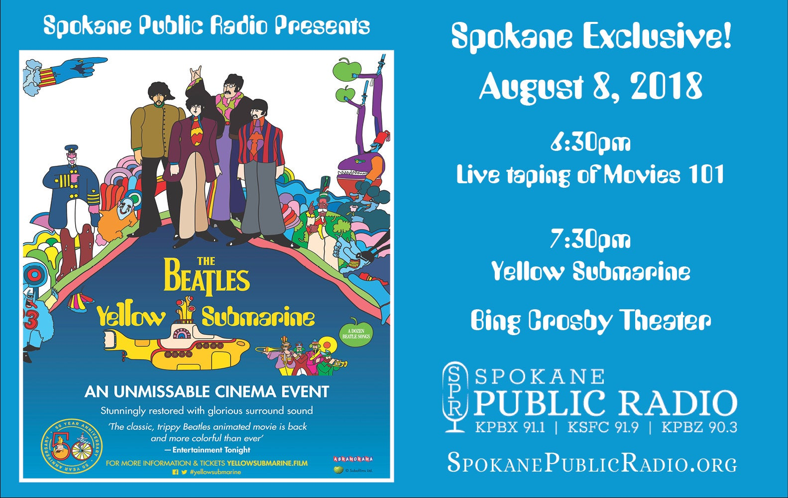 More Info for SPR presents The Beatles Yellow Submarine